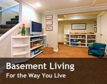 basement living room design remodeling canandaigua penfield ny