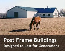 Post Frame Pole Barn Building design and construction Rochester Lyons Geneva NY
